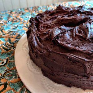 Salaisen Puutarhan suklaakakku